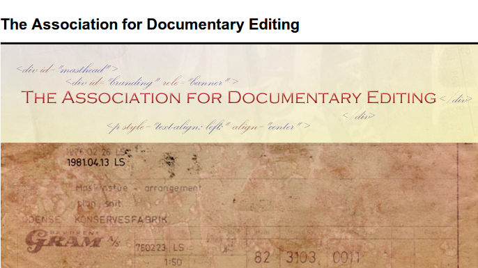 Association for Documentary Editing