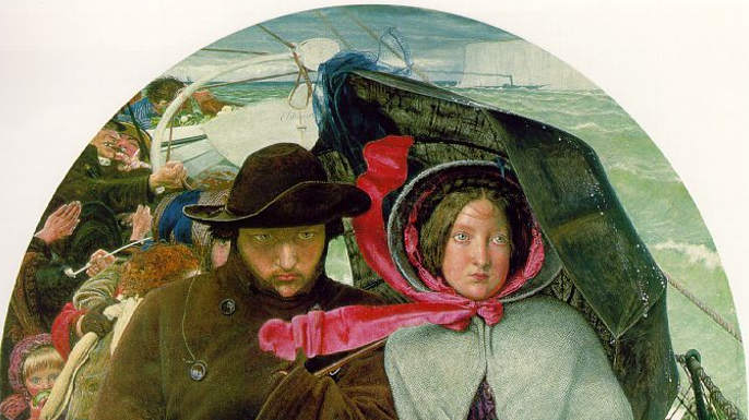 The Last of England by Ford Madox Brown, 1855