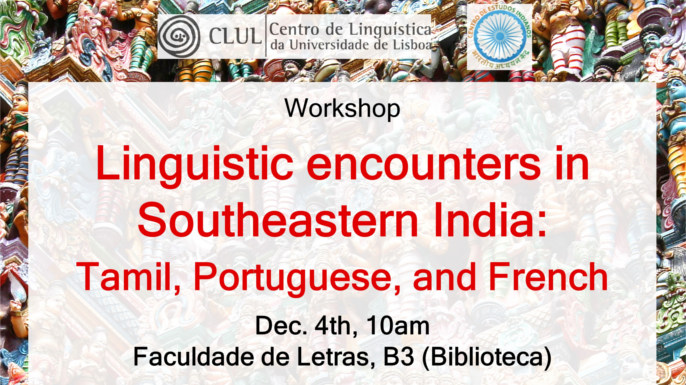 "Worskhop ""Linguistic encounters in Southeastern India: Tamil, Portuguese, and French"" 