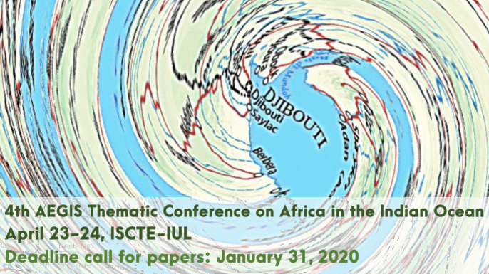 The 4th AEGIS Thematic Conference on Africa in the Indian Ocean is planned to take place at Iscte – University Institute of Lisbon, on 23-24 April 2020.