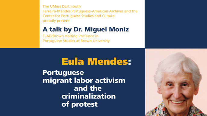 Thursday, January 30, 2020 -  talk by Dr. Miguel Moniz on
