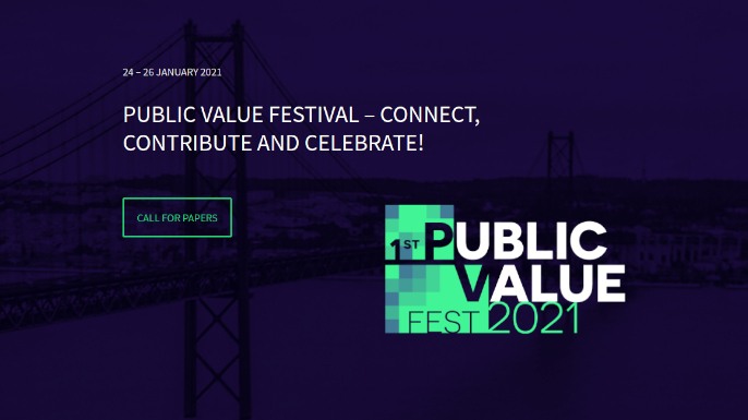 First Public Value Festival – Connect, Contribute, Celebrate | Lisboa, 24 a 26 de janeiro de 2021.
